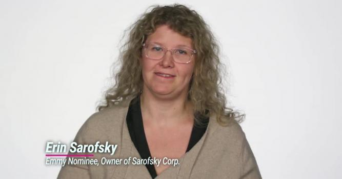 Erin Sarofsky, President, Owner and Creative Director of Sarofsky Corp.