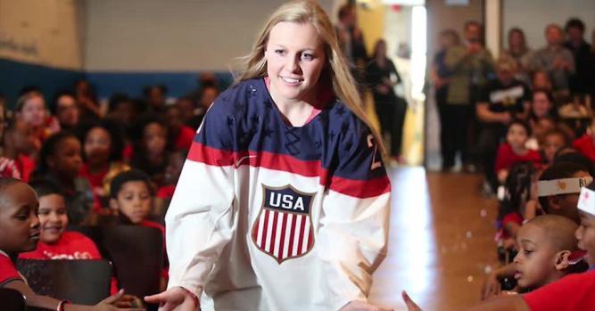 Kendall Coyne, US Women's Olympic Hockey Team Gold Medalist