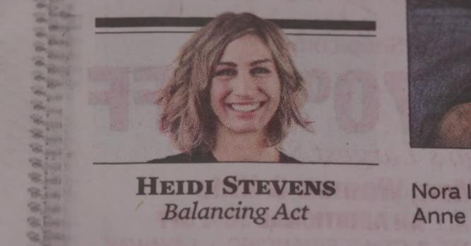 Heidi Stevens, Columnist, Chicago Tribune