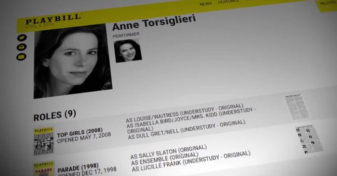 Anne Torsiglieri, Actor, Playwright & Performer