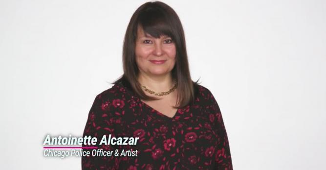 Antoinette Alcazar, Chicago Police Officer & Artist