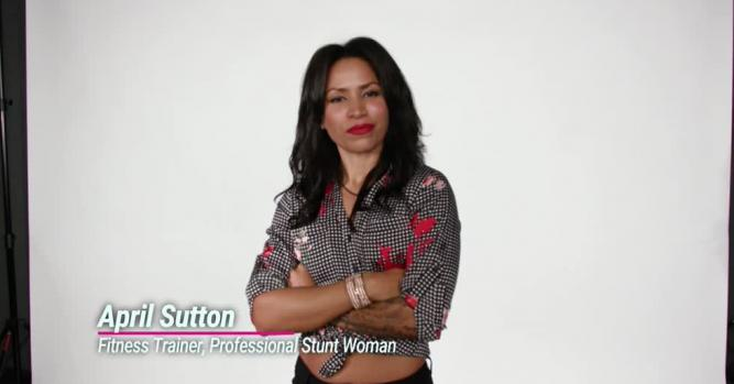 April Sutton, professional stuntwoman